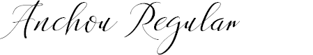 Preview image for Anchou Regular Font
