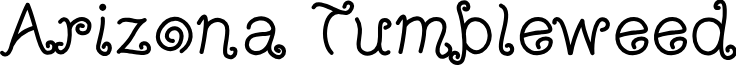 ArizonaTumbleweed font