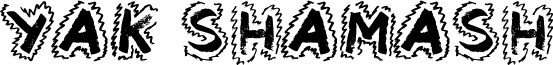 Yak Shamash font