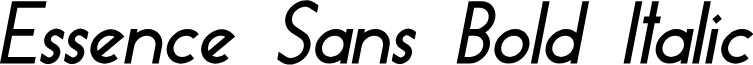 Essence Sans Bold Italic
