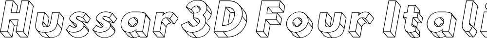 Preview image for Hussar3D Four Italic