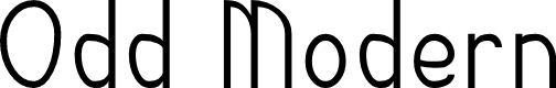 Preview image for Odd Modern Font