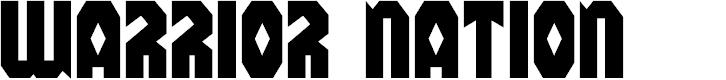 Preview image for Warrior Nation Regular Font
