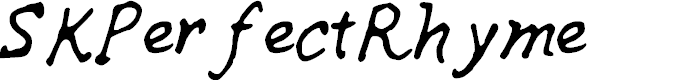Preview image for SKPerfectRhyme Font