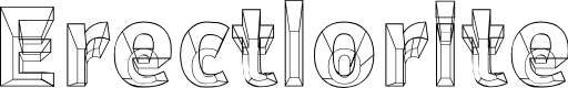 Preview image for Erectlorite Font