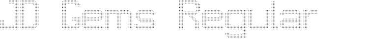 Preview image for JD Gems Regular Font