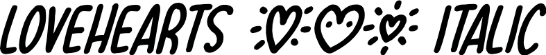 Preview image for Lovehearts XYZ Italic