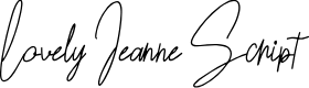 Preview image for Lovely Jeanne Script Font