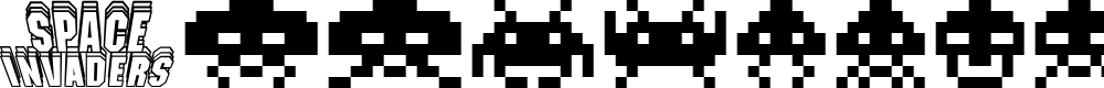 Preview image for Invaders Font