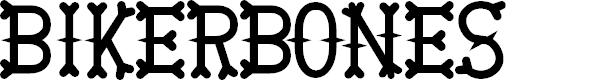 Preview image for BikerBones Font