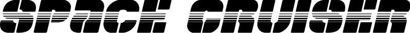 Space Cruiser Halftone Italic