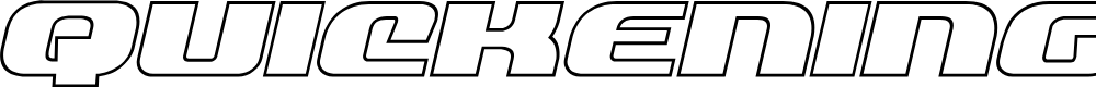 Preview image for Quickening Outline Italic