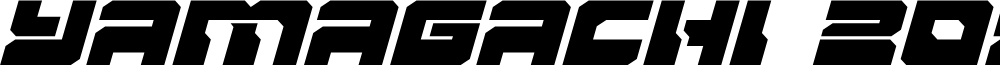 Yamagachi 2050 Expanded Italic