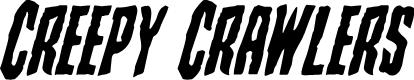 Preview image for Creepy Crawlers Italic
