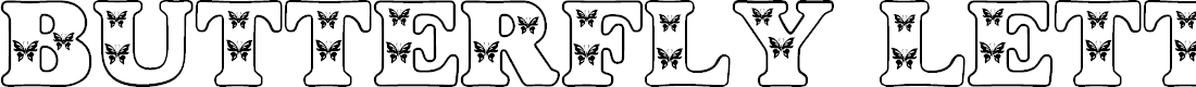 Preview image for Butterfly Letters Font