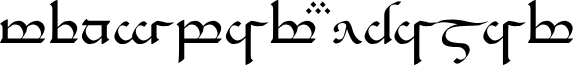 Tengwar Eldamar Alt
