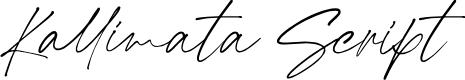 Preview image for Kallimata Script Font