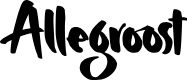 Preview image for Allegroost Font