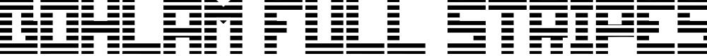 Preview image for Bohlam Full Stripes Font