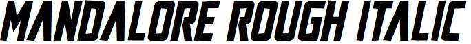 Mandalore Rough Italic