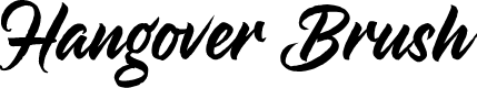 Preview image for HangoverBrush Font