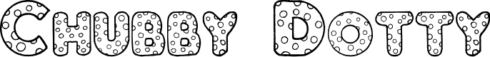 Preview image for Chubby Dotty Font