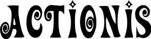 Preview image for ActionIs Font