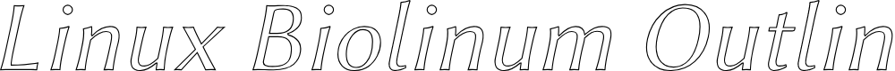 Preview image for Linux Biolinum Outline Italic