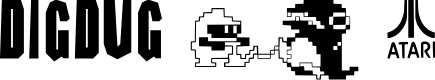 Preview image for DIG DUG Font