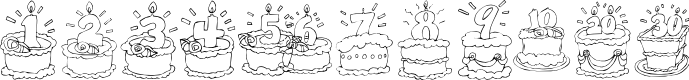 Preview image for KR Birthday Cake! Dings Font