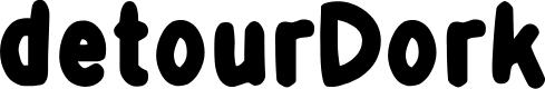 Preview image for DetourDork Font