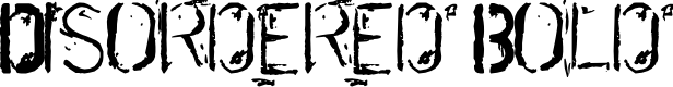 Preview image for DisorderedBold Font