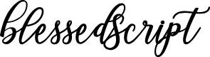 Preview image for BlessedScript Font