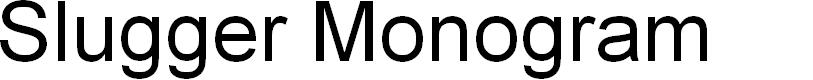 Preview image for Slugger Monogram Font