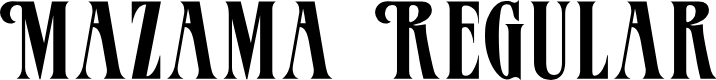 Preview image for Mazama Regular Font