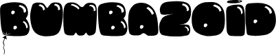 Preview image for Bumbazoid Font