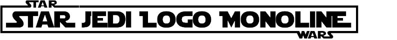 Preview image for Star Jedi Logo MonoLine Font
