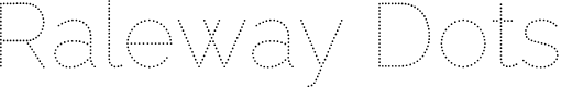 Preview image for Raleway Dots  Font