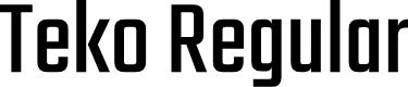 Preview image for Teko Regular Font