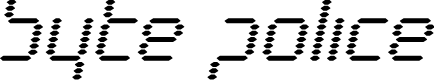 Preview image for Byte Police Bold Italic