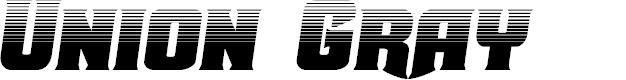Preview image for Union Gray Halftone Semi-Italic