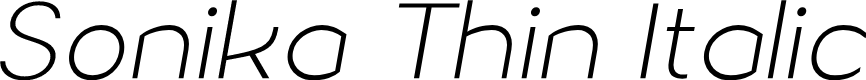 Preview image for Sonika PERSONAL USE Thin Italic