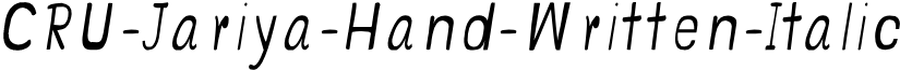 CRU-Jariya-Hand-Written-Italic