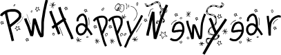 Preview image for PWHappyNewYear Font
