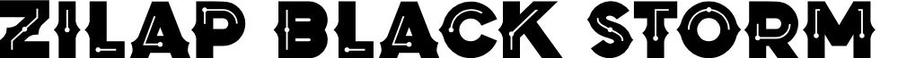 Zilap Black Storm Black font