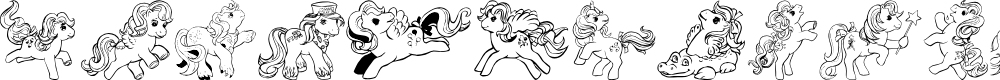 Preview image for LMS Pretty Pony Ding Regulaar Font