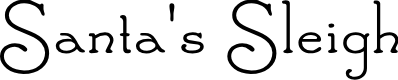 Preview image for Santa'sSleighFull Font