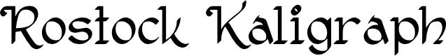 Preview image for Rostock Kaligraph Font