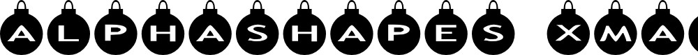 Preview image for AlphaShapes xmas balls Font