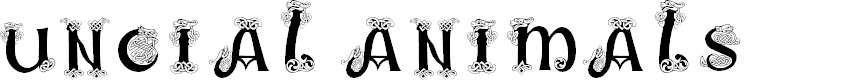 Preview image for Uncial Animals Font